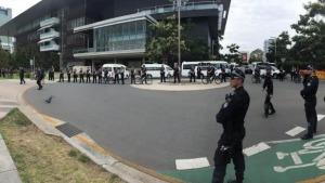 police bike barricades