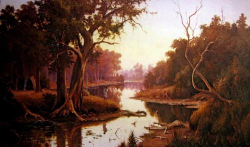 on the murray river by ernest william christmas